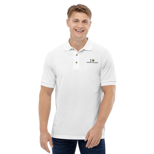 Embroidered man's polo shirt I LOVE CANARY ISLANDS - Tenerife Surprise Shop