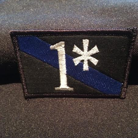One Asterisk 1* (One Ass to Risk) Thin Blue Line Police Law Enforcement Morale Patch