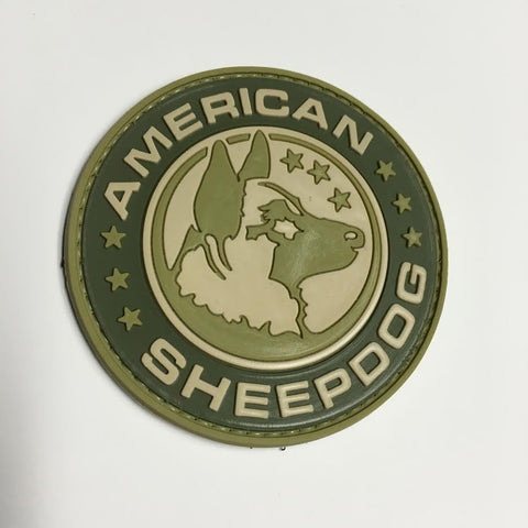 American Sheepdog Logo Patch - Multiple Options