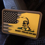 Don't Tread On Me Subdued American Flag Combo Patch