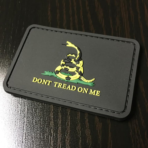 Black Gadsden Flag Patch