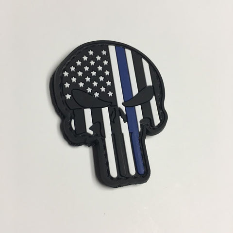 Punisher Skull Patch - Thin Blue Line Edition