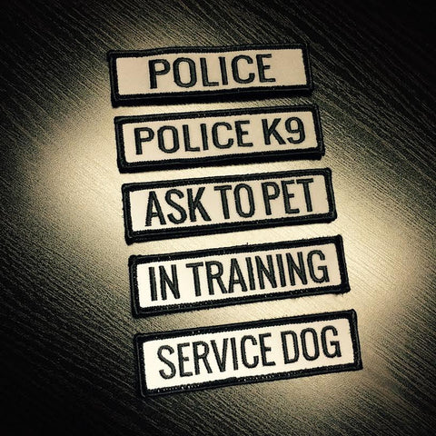 REFLECTIVE Nametapes for POLICE & K9