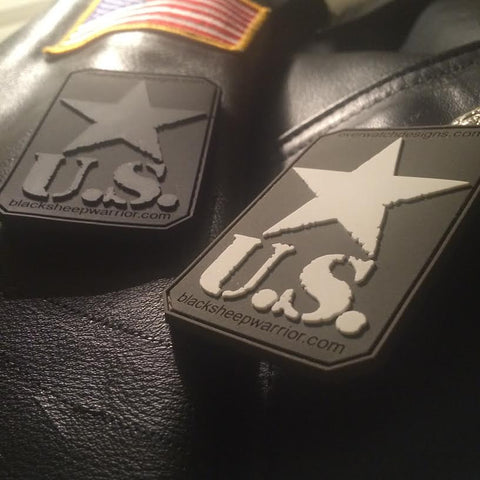 USA Star 3×2 Soft PVC Patch