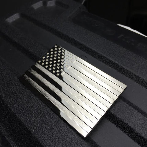 METAL US FLAG AUTO EMBLEM