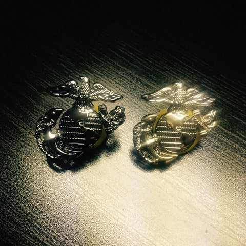 USMC Eagle, Globe, and Anchor Lapel Pin - Screw Backing