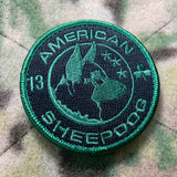 American Sheepdog Lucky Patch & Dogtag Pendant