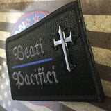 BEATI PACIFICI Patch with Black Nickel Cross