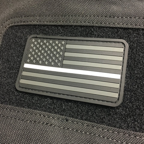Thin White Line US Flag Patch