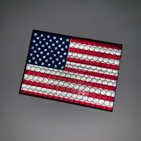 Reflective US Flag Patch