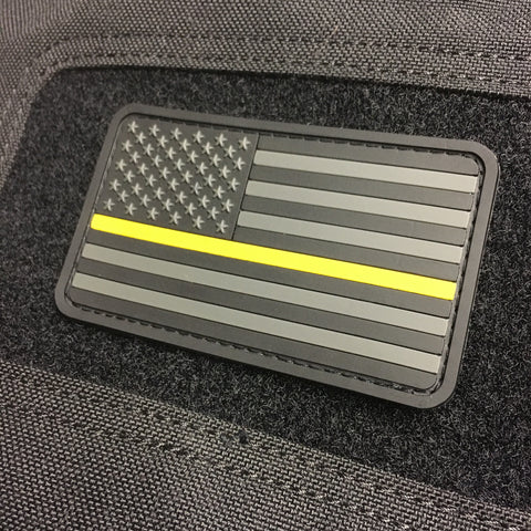 Thin Gold Line US Flag Patch - Ghost Edition