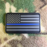 Stealth Thin Blue Line American Flag Patch
