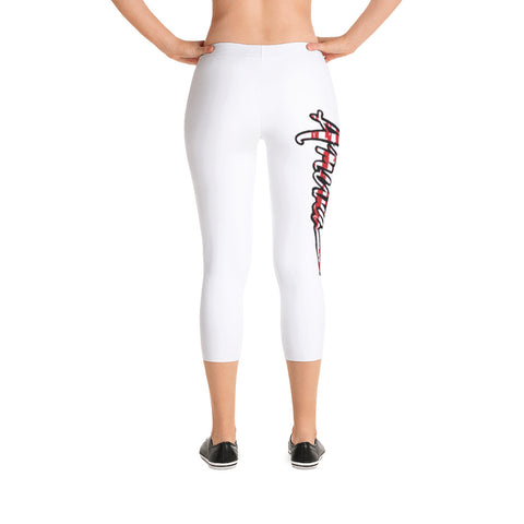 Patriotic 'AMERICA' Capri Leggings