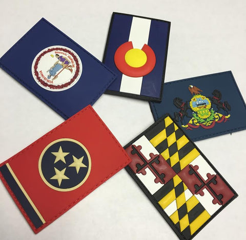 State Flag PVC Patches - Traditional Edition