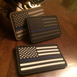 Black & White Thin Blue Line American Flag