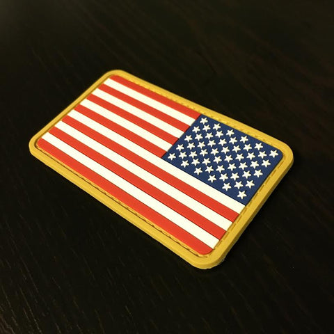PVC US Flag Patch - Full Color Reverse Side