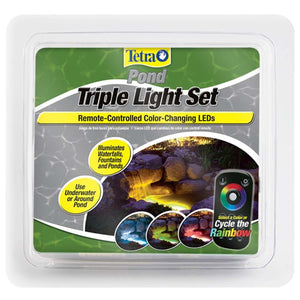 Tetra Color Changing Pond LED Triple Light Set