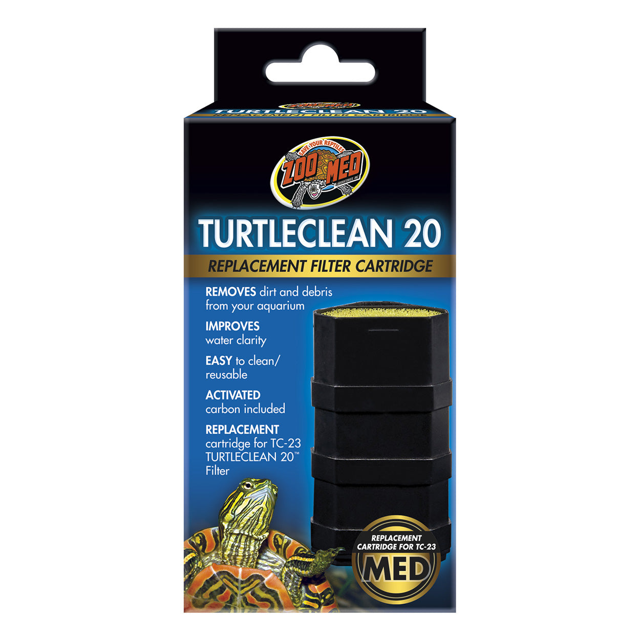 Replacement Cartridge for Turtleclean Deluxe Turtle Filter
