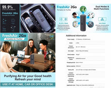 Load image into Gallery viewer, iborg, Freshair 3 and O3 Air Purifiers