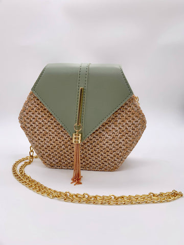 Sage Hexagon Crossbody Bag