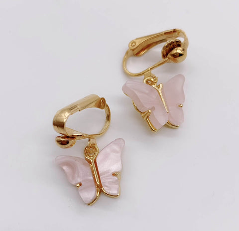 Blush Pink Butterfly Earrings