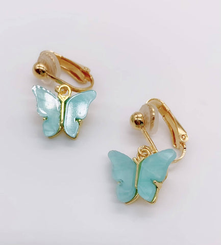 Baby Blue Butterfly Earrings
