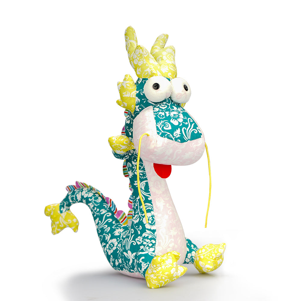 Chinese Dragon Plush Toy Stuffed Animal Toy for Kids Hand Made Fabric Plush Toy Home Decoration Holiday Gifts