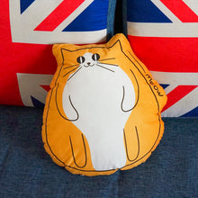Load image into Gallery viewer, Meow Cat Shaped Plush Cushion Throw Cushion Funny Cat Plush Toy Series