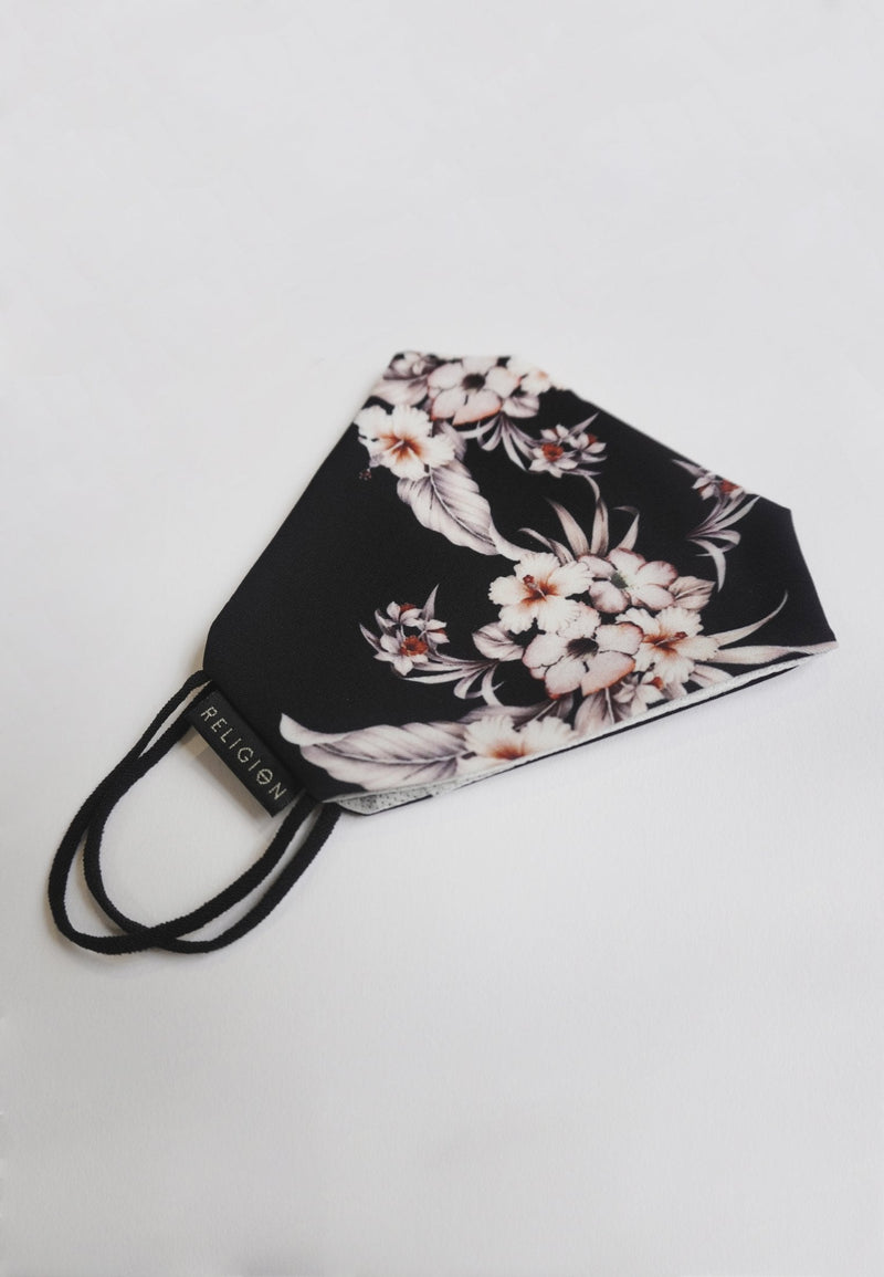 Mask Floral White