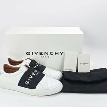 Load image into Gallery viewer, Givenchy Women's Urban Knot Logo White Leather Slip On Sneakers EU 38 / US 8