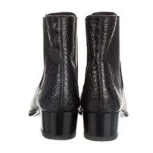 Load image into Gallery viewer, Saint Laurent Black Crocodile Leather Round-Toe Ankle Boots US 8 / EU 38