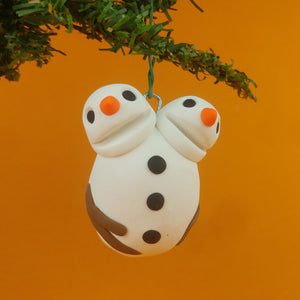 Double Headed Snowman Ornament