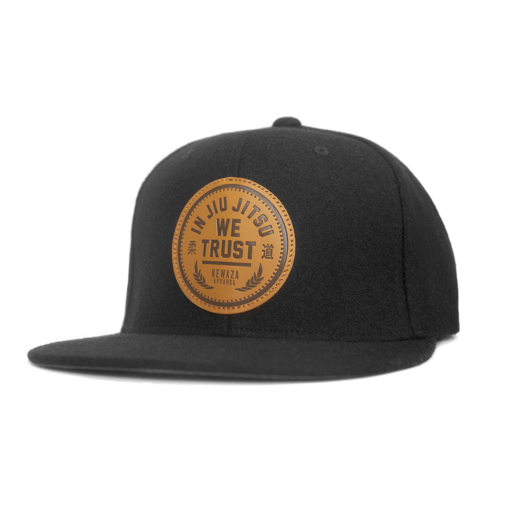 6e5805b40df41 Leather Patch Trust Hat (Black Wool) – Newaza Apparel