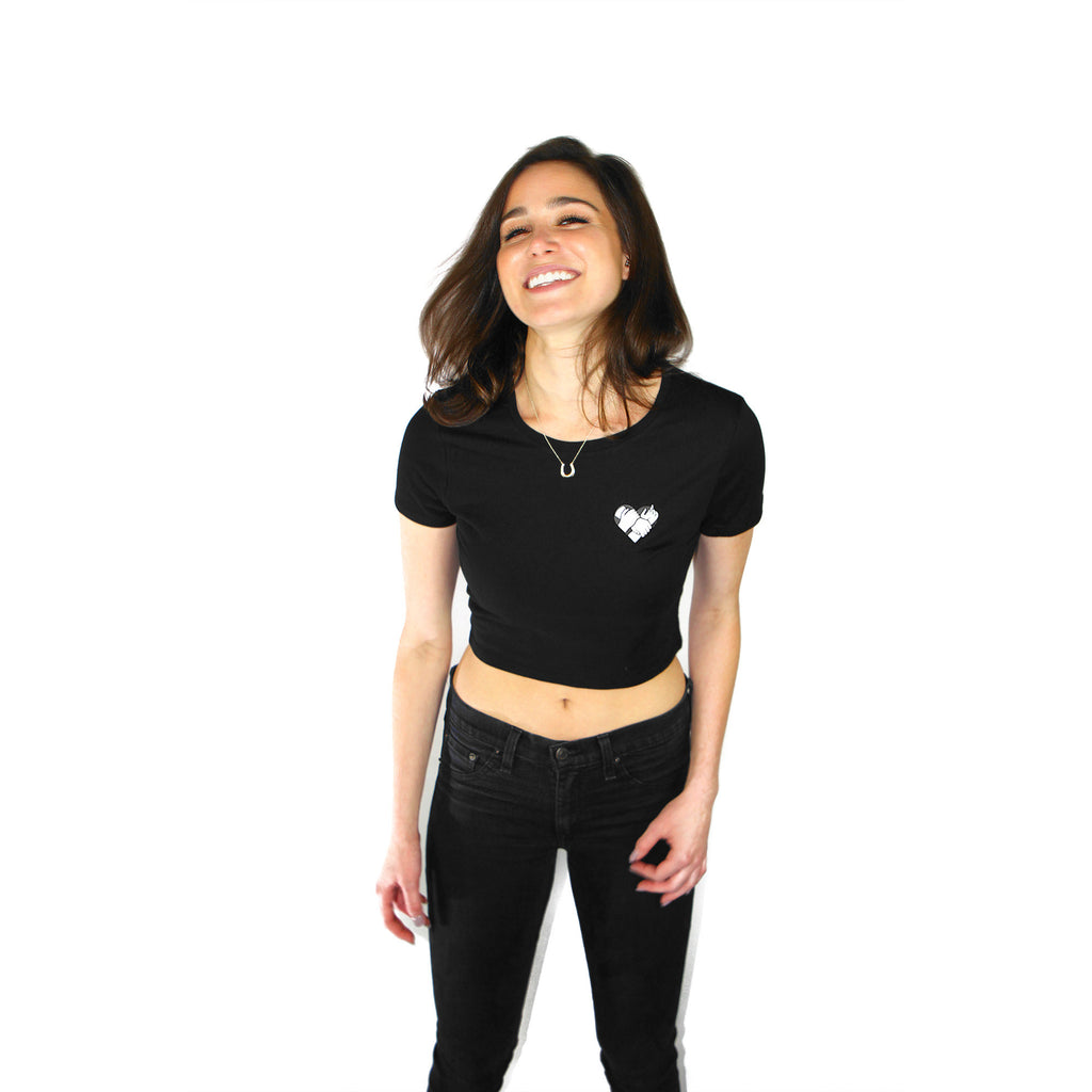 Locked Up Crop Top (Black)
