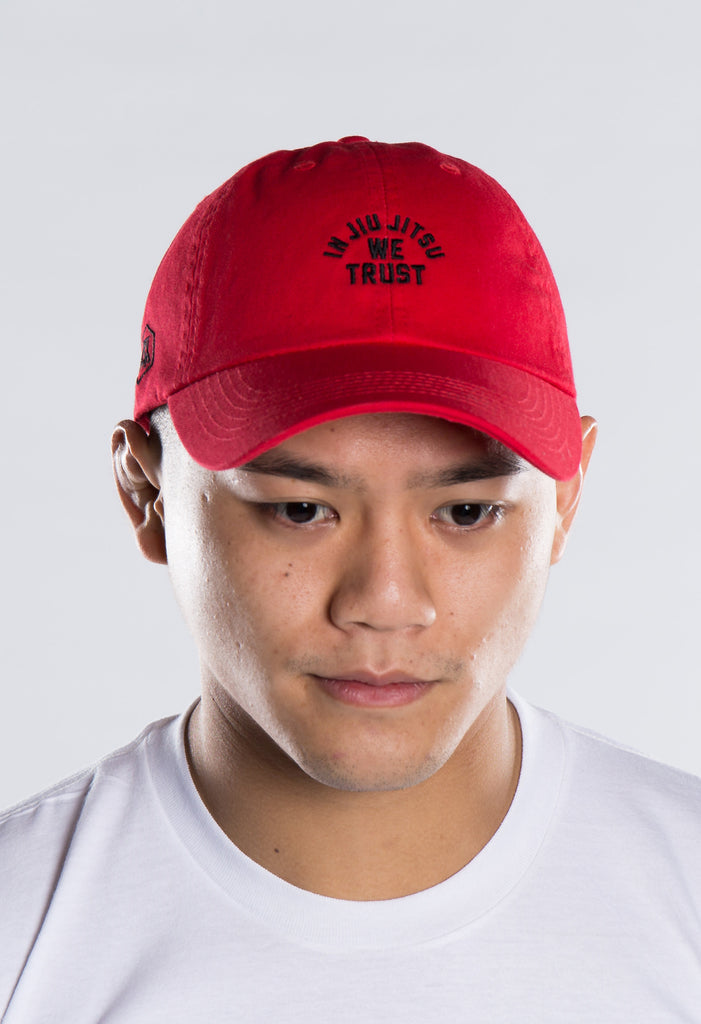 In Jiu Jitsu We Trust Red Polo Hat
