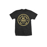 In Jiu Jitsu We Trust (Gold on Black Youth Fit)