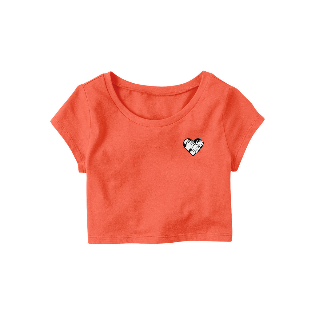 Locked Up Crop Top (Coral)
