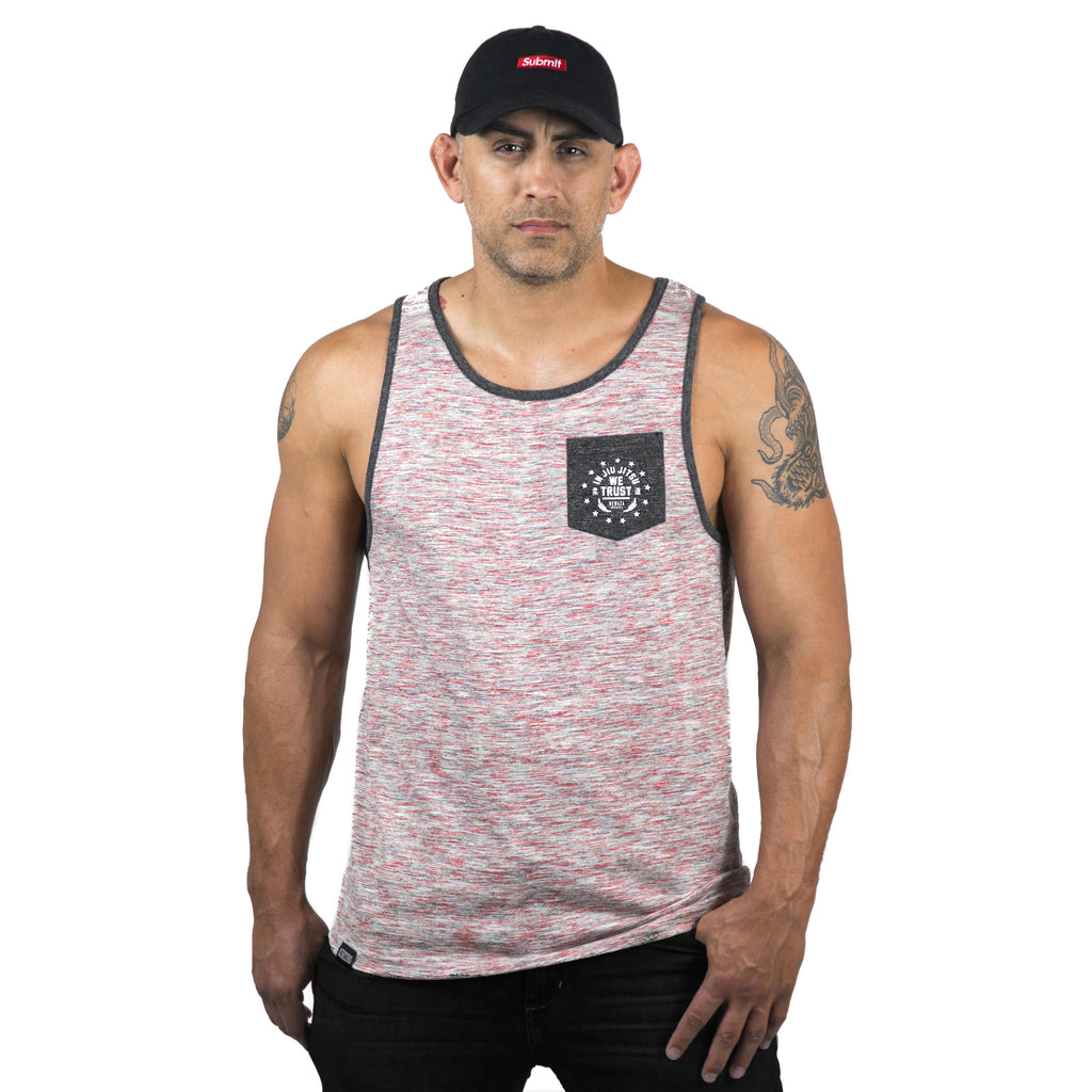 Trust Red White and Blue Tri-Blend Pocket Tank