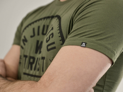 Trust Tee 2.0 -  Black on War Green
