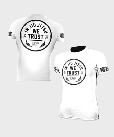 In Jiu Jitsu We Trust Ranked Short Sleeve Rashguards