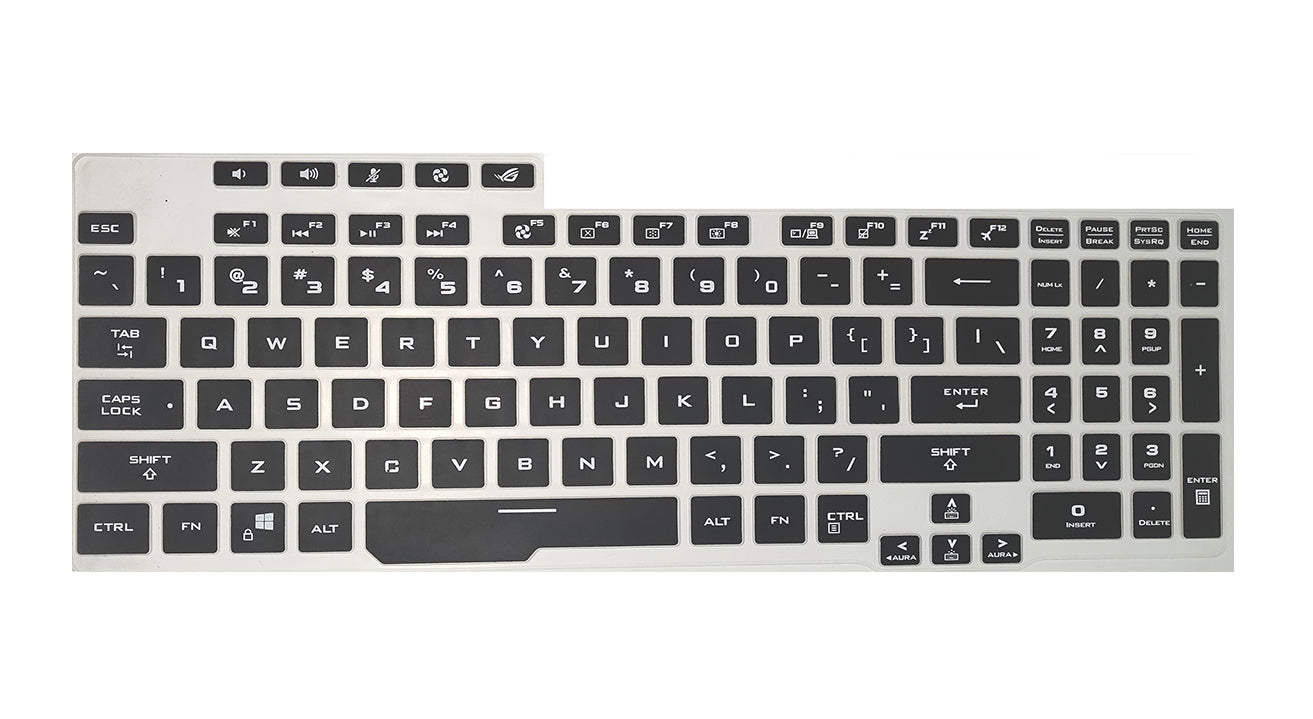 Silicone Keyboard Cover Protector Laptop for ASUS ROG Strix G17 G712 G712LU G712LV G712L G712LW G712 LU LW LV 17.3 inch 2020-clear