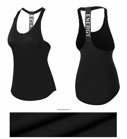 WSW Sexy Yoga Vest Sleeveless Quick Drying Running Women Gym Sport Female Tops