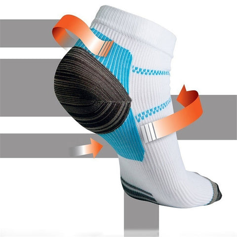WSW 1pair New Miracle Foot Compression Sock Anti-Fatigue Plantar For Men Women Sport Sock