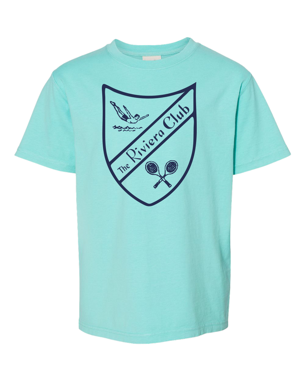 Riviera Club Shield Youth Garment Dyed Mint
