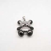 Load image into Gallery viewer, PANDA ANIMAL PENDANT IN WHITE GOLD