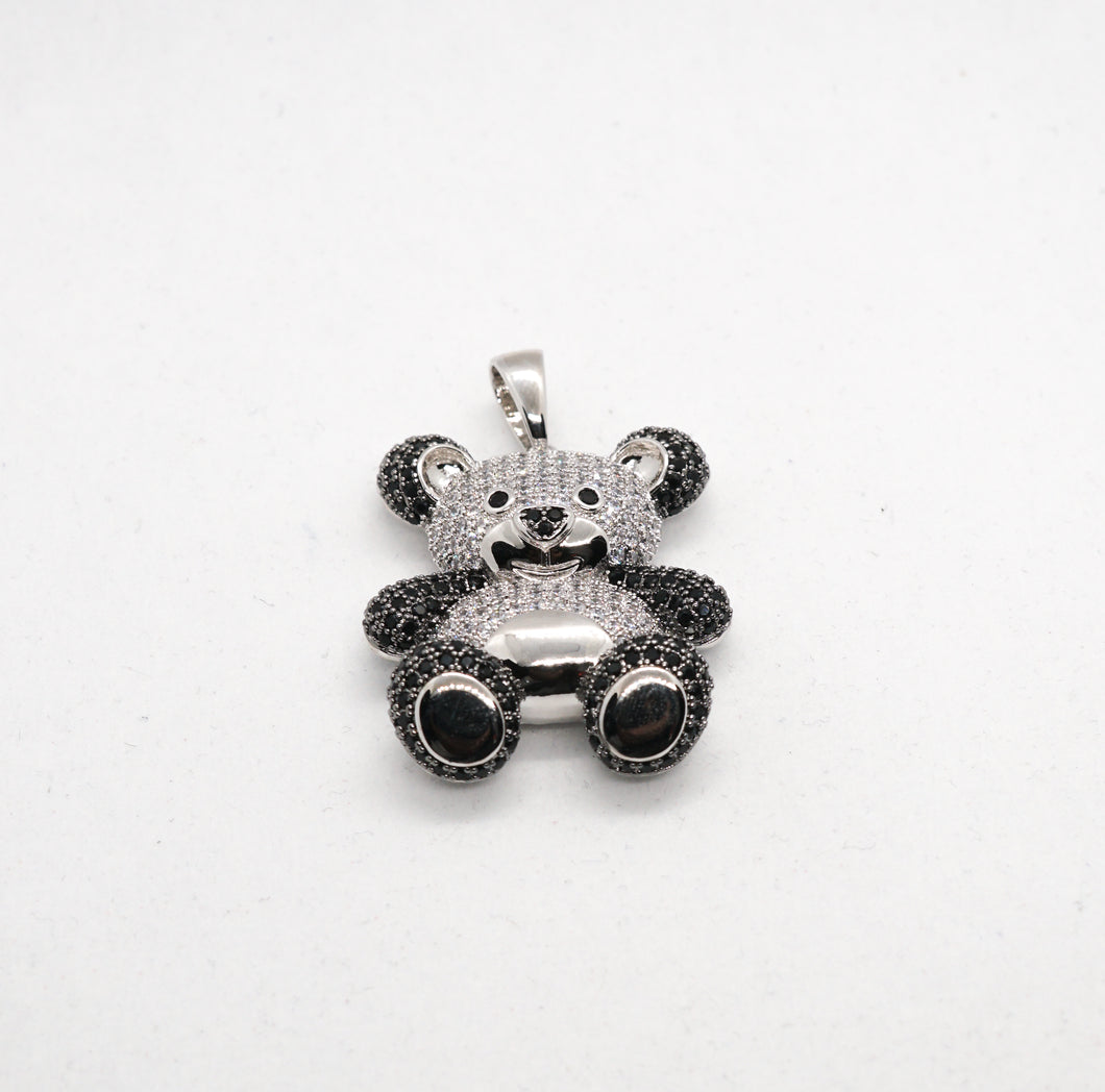 PANDA ANIMAL PENDANT IN WHITE GOLD