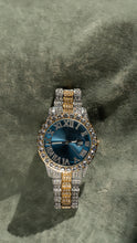 Load image into Gallery viewer, Blue Dial Pave Iced Roman Numerals With Date Fashion Men's Watch