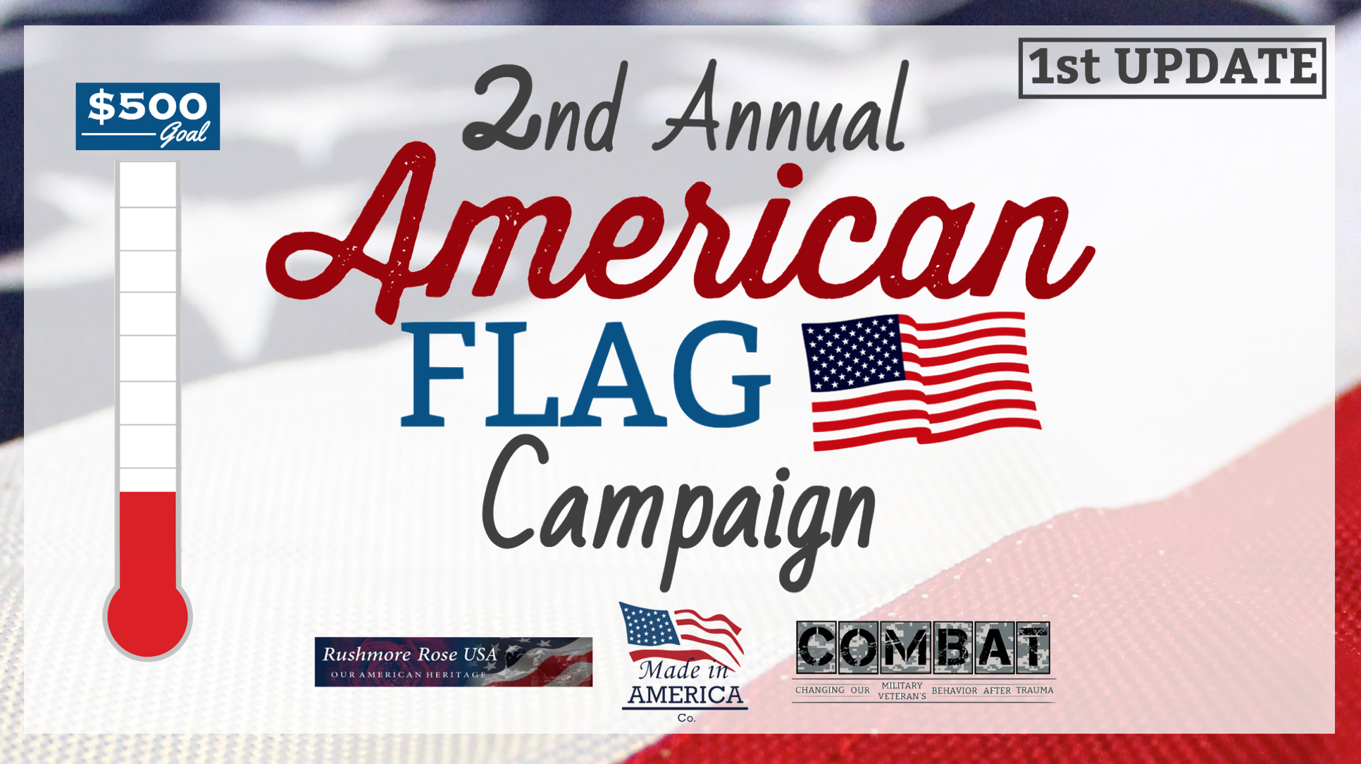 2nd Annual American Flag Campaign: 1st Update