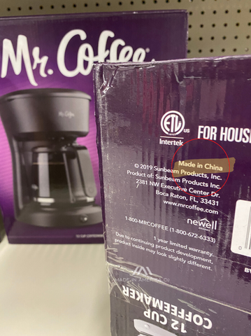 mr coffee coffee maker made in china