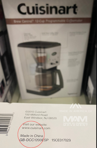Cuisinart coffee makers made in china
